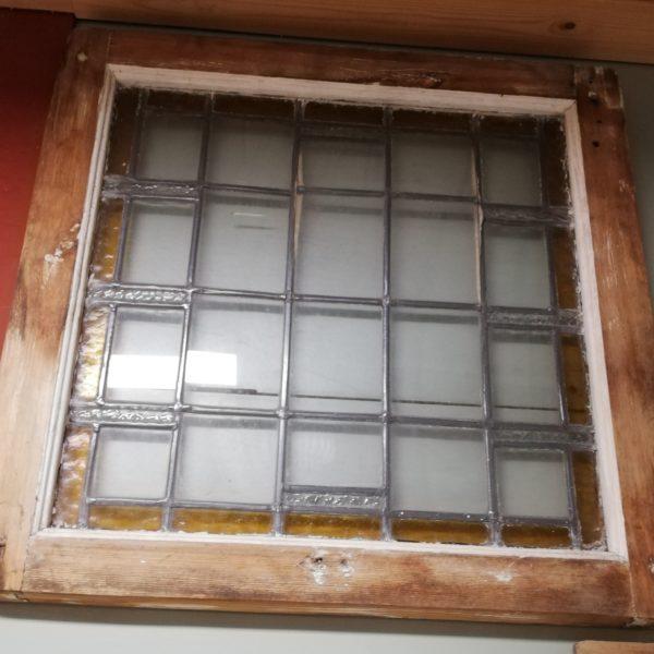 Raampaneel glas in lood – 10228