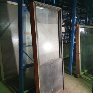 Langwerpig raamkozijn met borstwering | 88x220 cm
