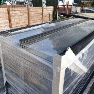 Glazen panelen - overkapping dak opaal - 2443x1056 mm